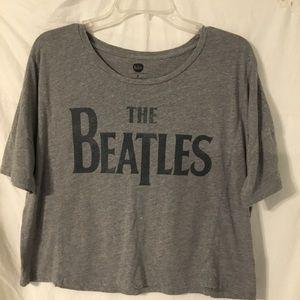 🔮Beatles Crop Top Gray Band T-shirt Small